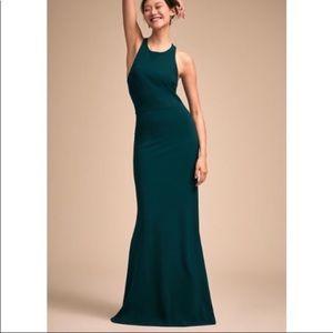 NWOT BHLDN Klara Dress - teal green (Pine) color